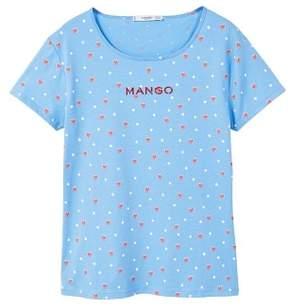 MANGO Printed logo t-shirt