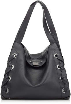 Jimmy Choo RION Black Grainy Soft Leather Tote Bag
