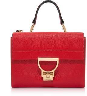 Coccinelle Coquelicot Pebbled Leather Arlettis Mini Bag w/Shoulder Strap