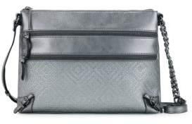 Elliott Lucca Mari Three-Zip Leather Crossbody Bag
