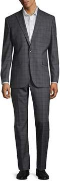 Kenneth Cole Men's Plaid Wool Suit