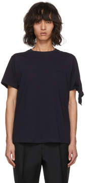 J.W.Anderson Navy Tie Knot T-Shirt