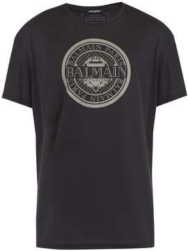 Balmain Circular logo-print cotton T-shirt