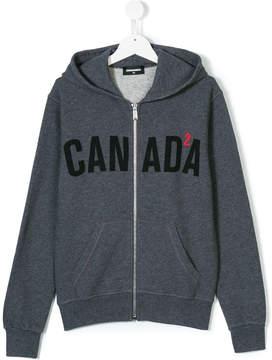 DSQUARED2 Canada zipped hoodie