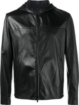 Fendi Bag Bugs hooded leather jacket