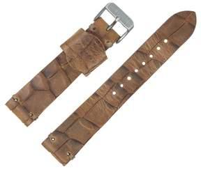 Dakota 22mm Handmade, Italian Leather, Large Grain Brown