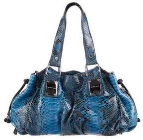 Michael Kors Python Shoulder Bag - BLUE - STYLE