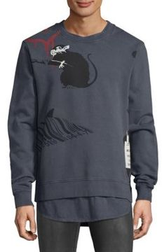 Eleven Paris Multi Stencil Cotton Sweatshirt