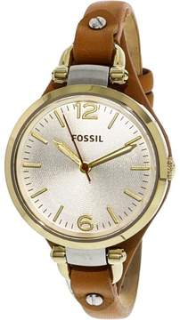 Fossil Women's ES3565 Georgia Leather Watch, 32mm