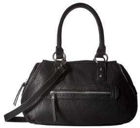 Jessica Simpson Womens Marley Faux Leather Convertible Satchel Handbag