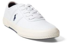 Ralph Lauren Tyrian Canvas Low-Top Sneaker Pure White 15