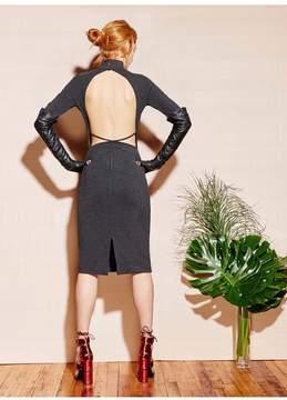 Fleur Du Mal | Long Sleeve Knit Dress | L | Gray