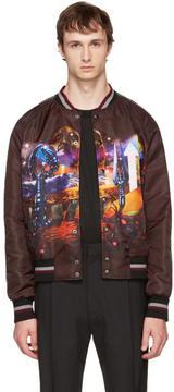 Lanvin Burgundy Dune Bomber Jacket