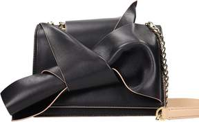 N°21 N.21 Small Bow Black Powder Leather Bag