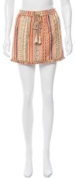 Calypso Aztec Patterned Mini Skirt