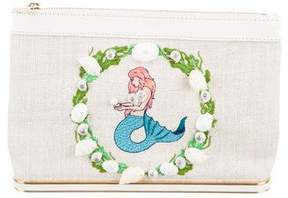Charlotte Olympia Mermaid Embroidered Clutch