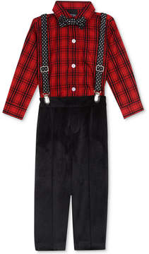 Nautica 4-Pc. Bowtie, Suspenders, Bodysuit & Pants Set, Baby Boys (0-24 months)