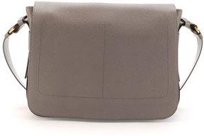 Tom Ford Men's Leather Messenger Bag, Slate