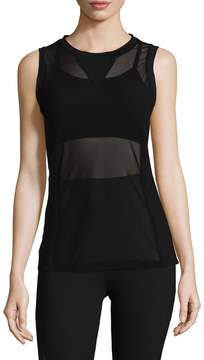 Electric Yoga Women's Overlaying Mesh Top