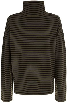 Juun.J Striped Roll Neck Sweater