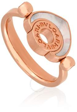 Bvlgari Cuore 18K Rose Gold Mother of Pearl Ring - Size 51