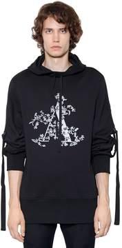 Ann Demeulemeester Hooded 'a' Printed Jersey Sweatshirt