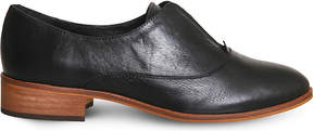 Office Flexi elastic-detail leather Oxford shoes