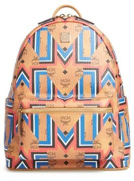 MCM Men's Stark Gunta Visetos Print Faux Leather Backpack - Brown