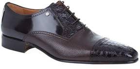 Stemar Croc Panel Oxford Shoe