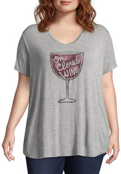 Boutique + Boutique+ Short Sleeve Graphic T-Shirt - Plus