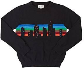 Paul Smith Kids' Skyline-Intarsia Cotton-Wool Sweater