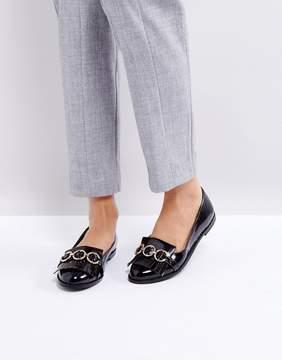 Glamorous Black Fringed Loafers