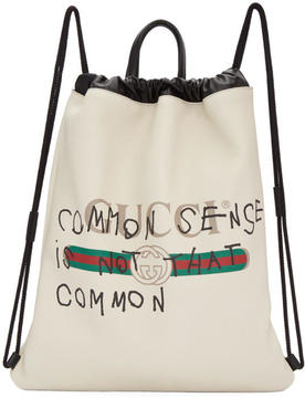 Gucci Off-White Coco Capitán Edition Fake Drawstring Backpack - OFF-WHITE - STYLE