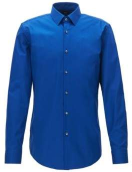 BOSS Hugo Easy Iron Cotton Dress Shirt, Slim Fit Isko 16.5 Blue