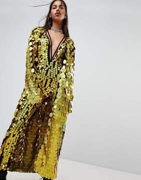 Jaded London Maxi Kimono In Sequin Co-Ord