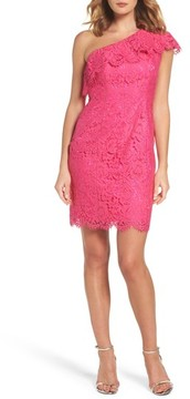 Eliza J Women's Ruffle Lace One-Shoulder Sheath Dress