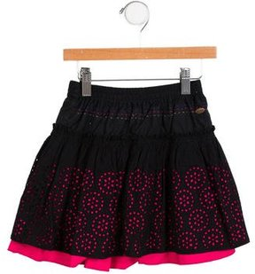 Catimini Girls' Flared Eyelet Skirt