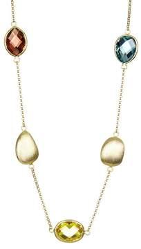 Rivka Friedman Faceted Multi Crystal & Satin Station Necklace