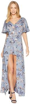 Angie Short Sleeve Print Maxi Romper Women's Jumpsuit & Rompers One Piece