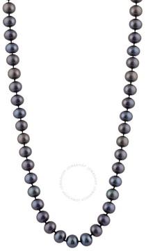 Bella Pearl Single Strand Black Freshwater Pearl 18 Necklace