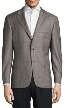 Hickey Freeman Check Wool Sportcoat
