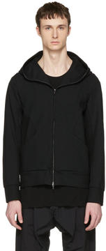 Attachment Black Waterproof Hooded Zip-Up Pullover