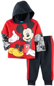 Disney Disney's Mickey Mouse Toddler Boy 2-pc. Mock Layer Hoodie & Pants Set