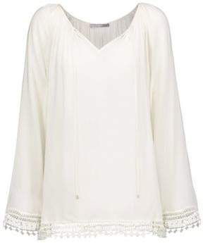 Tart Collections Cyra Crochet-Trimmed Broadcloth Top