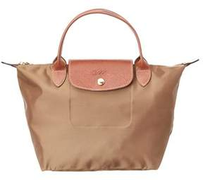 Longchamp Le Pliage Small Nylon Top Handle. - BEIGE - STYLE