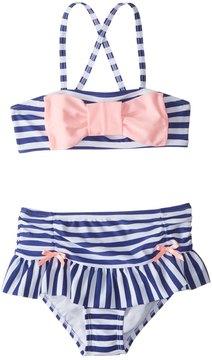 Hula Star Girls' Ships Ahoy Bikini Set (2T6X) - 8154264