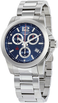 Longines Conquest Chrono Blue Dial Stainless Steel Men's Watch