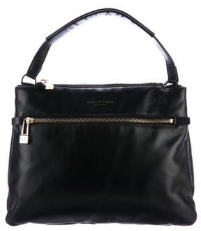 Halston Smooth Leather Satchel