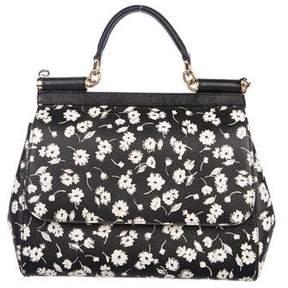 Dolce & Gabbana Floral Leather Satchel