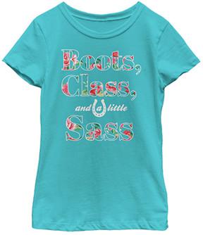 Fifth Sun Blue 'Boots, Class & a Little Sass' Tee - Girls